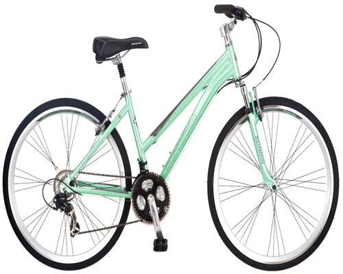 Schwinn Women's Siro 700c Hybrid Bicycle, Light Green, 16-Inch Frame