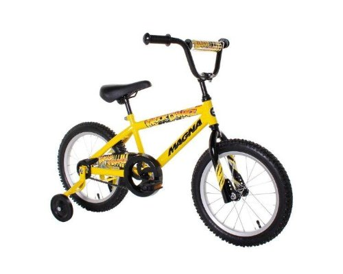 Dynacraft Magna Major Damage Boy's Bike (16-Inch, Yellow/Black)