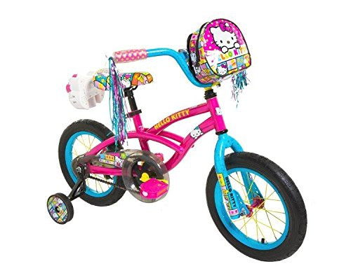 Dynacraft 8048-15ZTJ Girls Hello Kitty Bike, Pink/Blue, 14-Inch